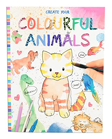 Top Model Renkli Hayvanlar Boyama Kitabı 8916 Amazoncomtr Panel