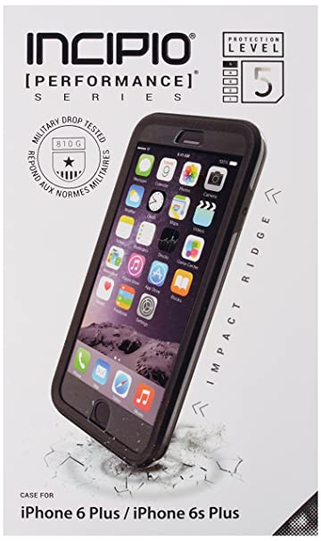 pretty nice 5efa2 bbce3 Incipio [Performance] Series Level 5 for iPhone 6 Plus / 6s Plus -  Black/Gray
