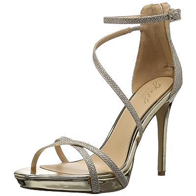 Jewel Badgley Mischka Women's GALEN Sandal, gold, 8 Medium US: Shoes