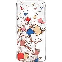 Capa Personalizada para Galaxy A8 (2018) - Livros Voando, Husky, Proteção Completa (Carcaça+Tela), Colorido