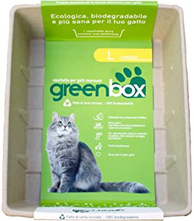 GREEN CAT greencat Greenbox Bandeja para Gatos desechable, L
