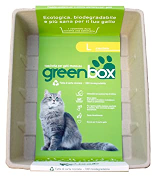 GREEN CAT greencat Greenbox Bandeja para Gatos desechable, L ...