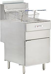 Grindmaster Cecilware FMS705LP 150000 BTU Floor Model Liquid Propane Gas Fryer, 70-Pound, Stainless Steel