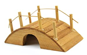 Touch of Nature Mini Fairy Garden Wooden Bridge, 2 by 5.7-Inch, Wood