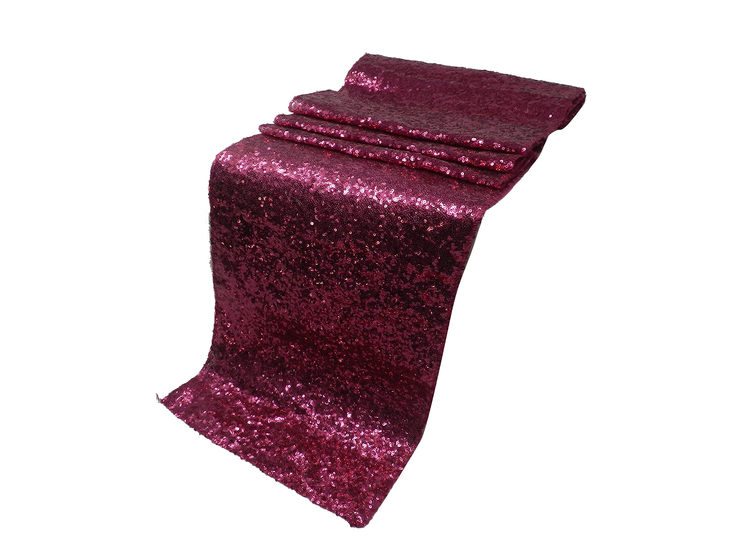 Elina Home 13'' x 108'' Glitter Sequin Table Runner,Wedding Banquet Kitchen Decoration(Pack of 20,Pink)