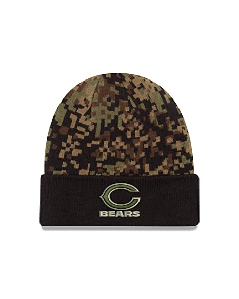 f544cb2c2 Amazon.com   New Era NFL Chicago Bears Print Play Knit Beanie