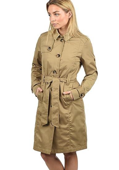 Desires Thea Giacca Trench Coat Transitorio da Donna con cinturaCollo con  Revers  Amazon.it  Abbigliamento ddde3deb4fc2