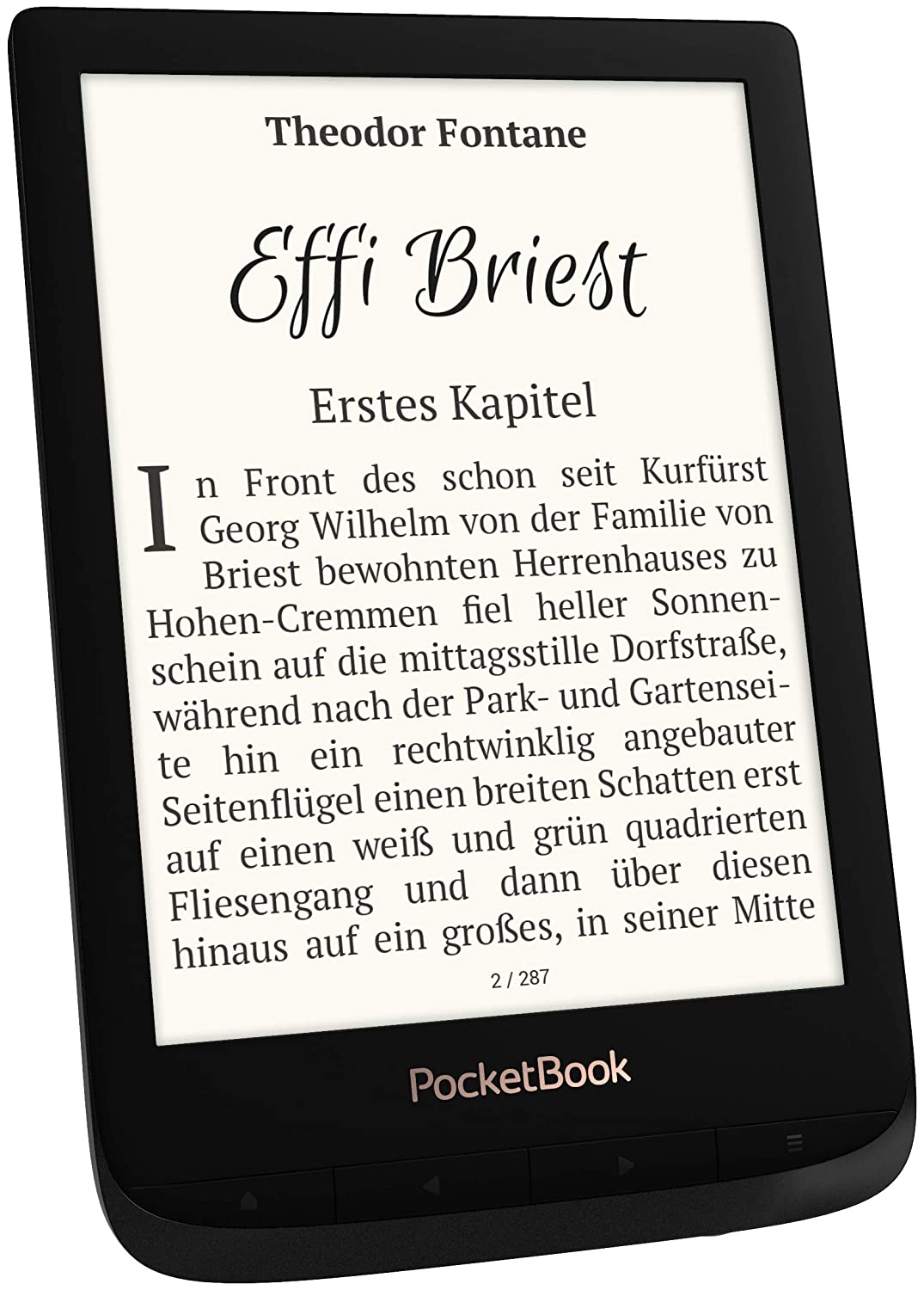 PocketBook 'Touch Lux 4' e-Book Reader Black