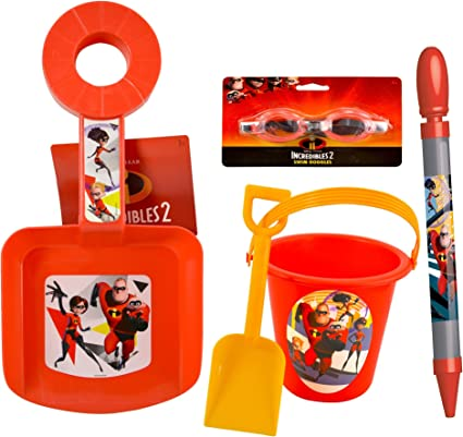 incredibles 2 Sand Bucket and Shovel For Birthday party Favor Gift