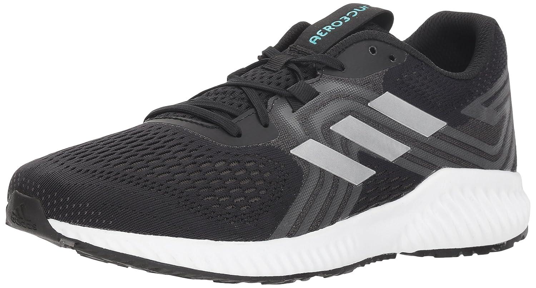 adidas Men's Aerobounce 2 Running Shoe B077XN1S63 9 D(M) US|Black/Silver Metallic/Hi-res Aqua