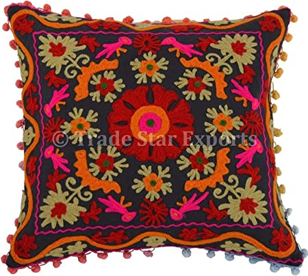 Trade Star Funda de Almohada Suzani 16x16,Cojines