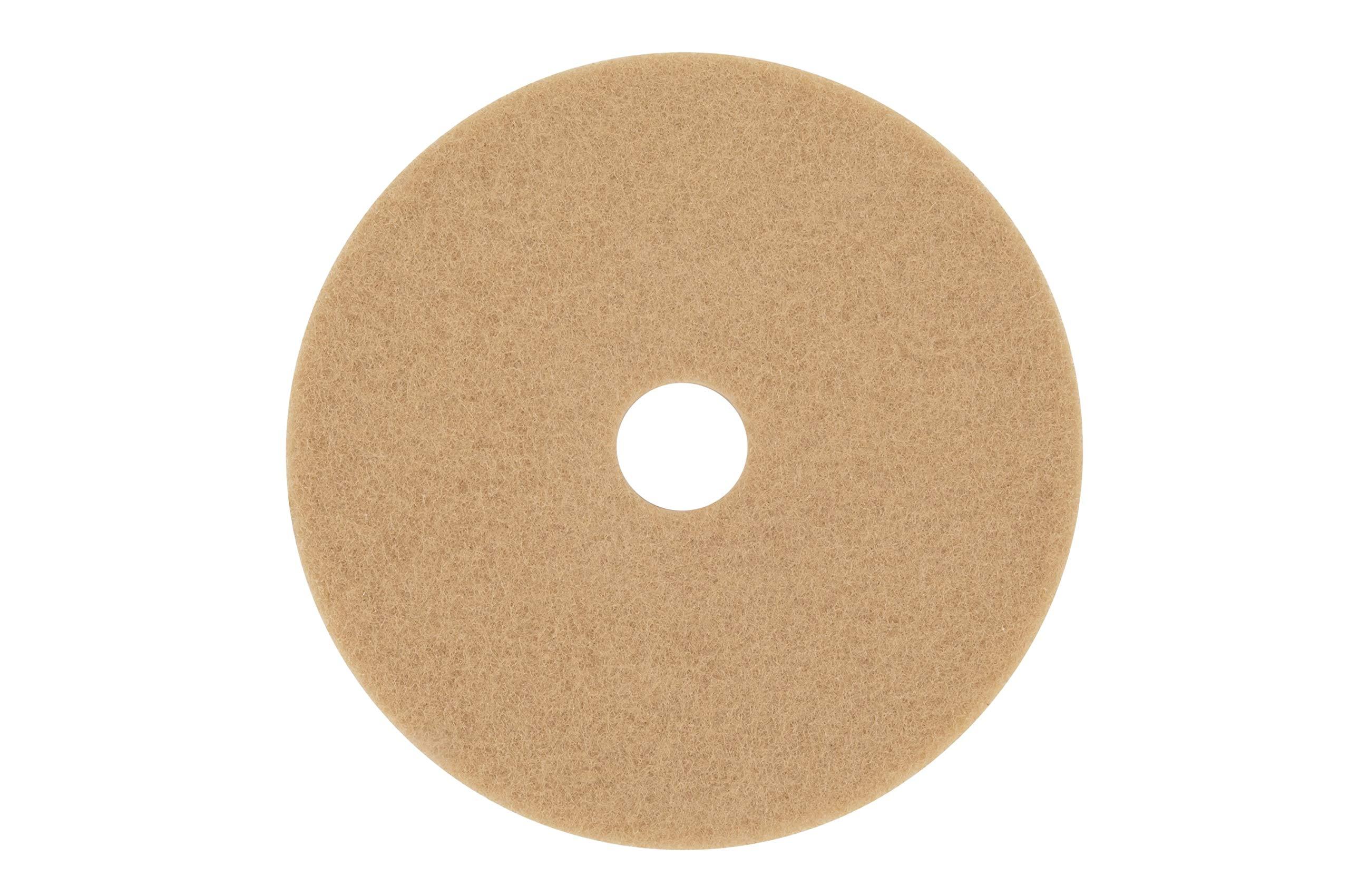 3M Tan Burnish Pad 3400, 20'' Floor Care Pad (Case of 5)
