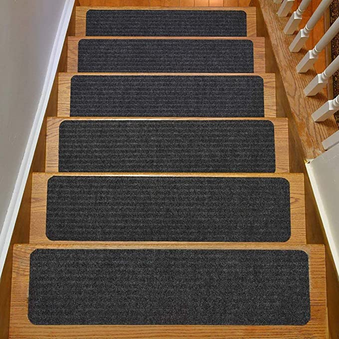 Carpet Stair Treads Set of 13 Non Slip//Skid Rubber Runner Mats or Rug Tread –...