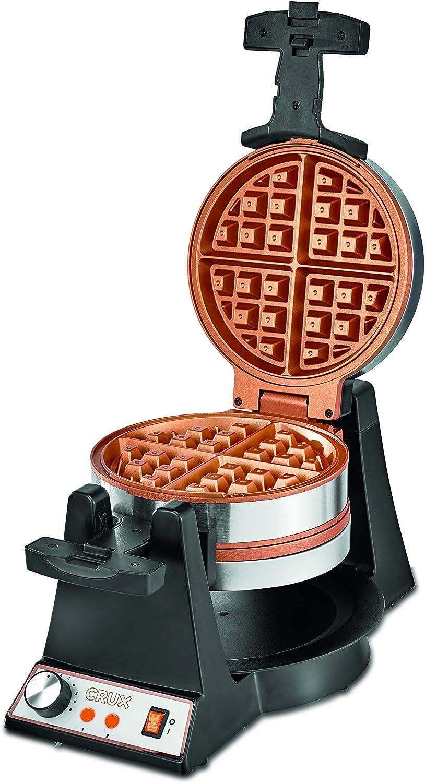 CRUX (14614) Double Rotating Waffle Maker