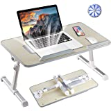 8AM Adjustable Laptop Stand Portable Laptop Table with Foldable Legs Notebook Computer Desk for Laptop Reading and…