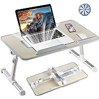 8AM Soporte para ordenador portátil ajustable mesa portátil con patas plegables para ordenador portátil de lectura y…
