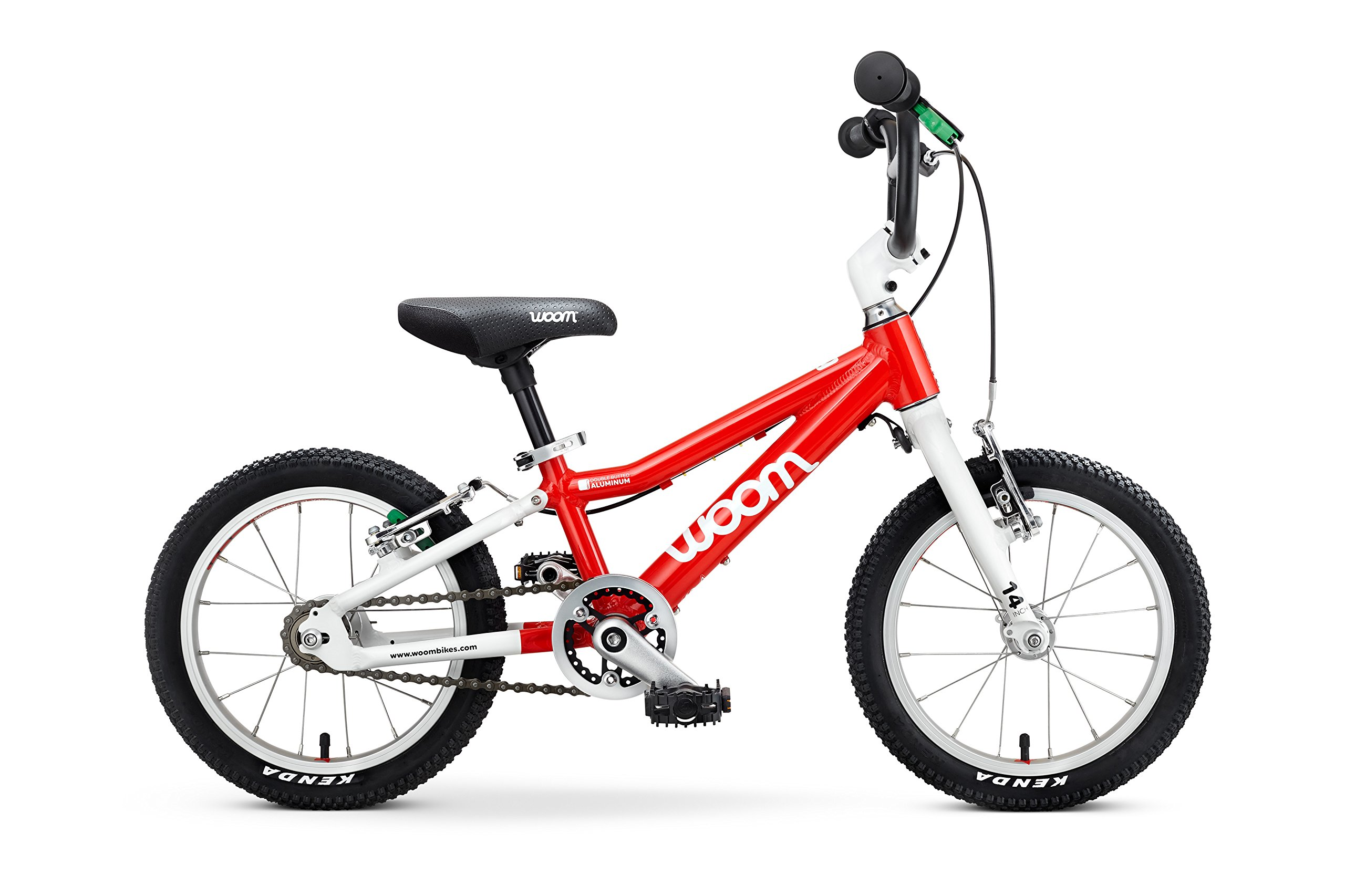 "Woom 2 Pedal Bike 14"", Ages 3 to 4.5 Years, Red by WOOM BIKES USA"