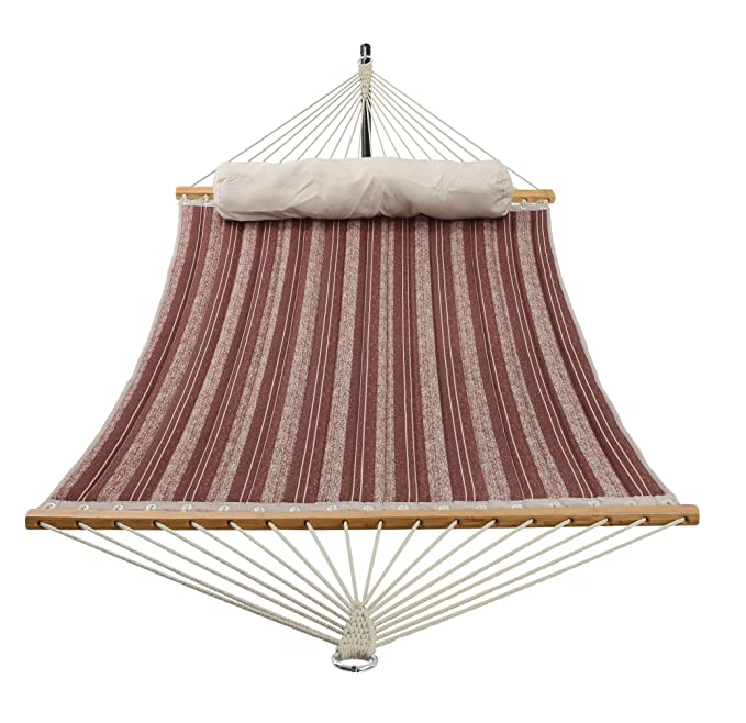 PATIO WATCHER Quilted Fabric Hammock – Best Heavy-Duty Rope Hammock