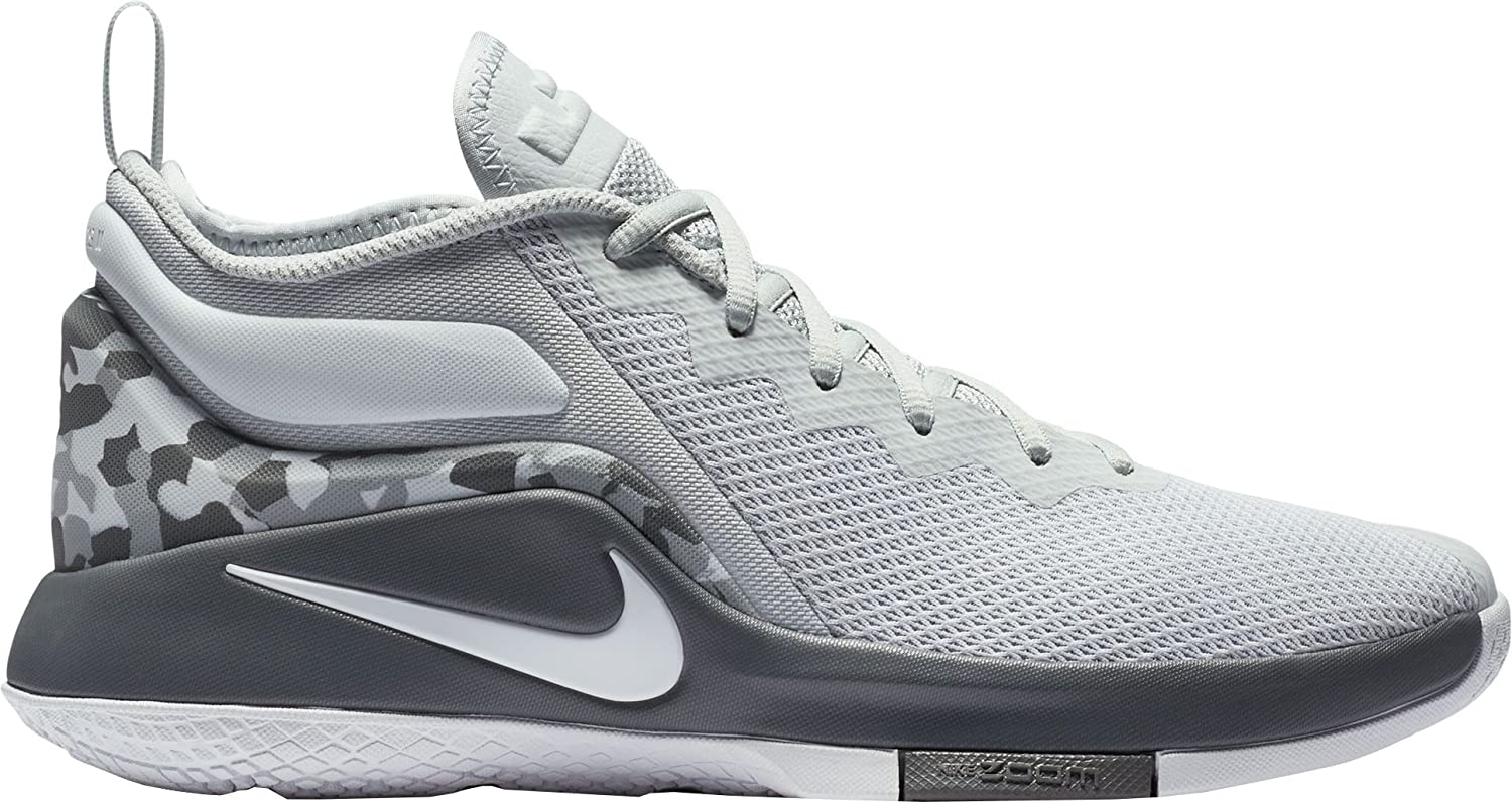 ナイキ シューズ スニーカー Nike Men's LeBron Witness II Basketball GreyWhite [並行輸入品] B077GZ14SY