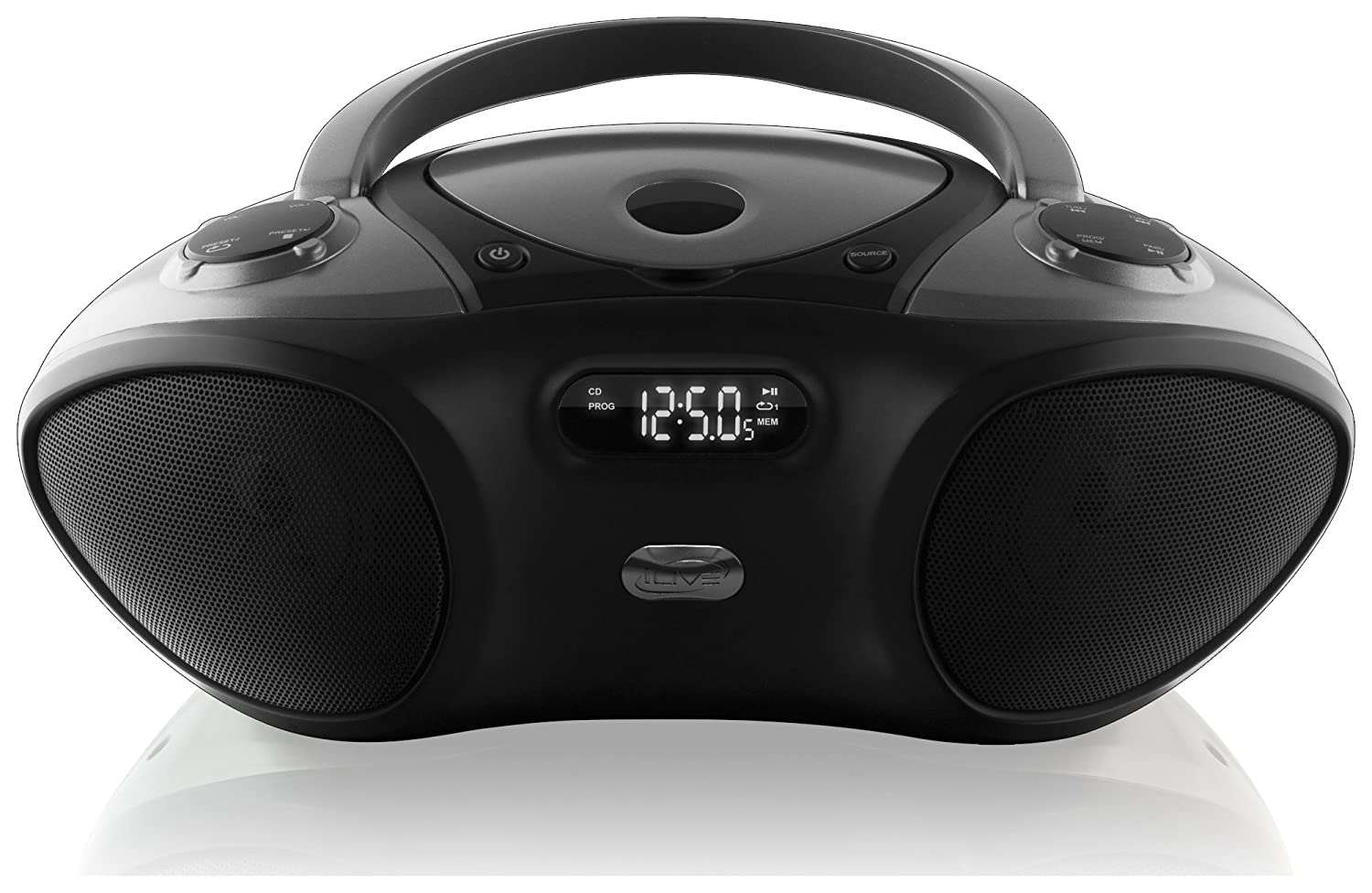 ilive boombox bluetooth speaker with cd player and fm. Black Bedroom Furniture Sets. Home Design Ideas
