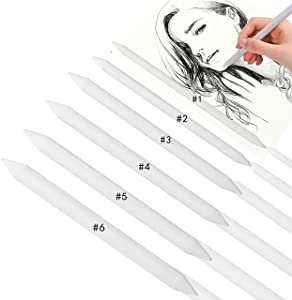 Heteri Sketch Drawing Tools for Student Sketch Drawing,Pieces Artist Blending Stump and Tortillion Art Blender (6)