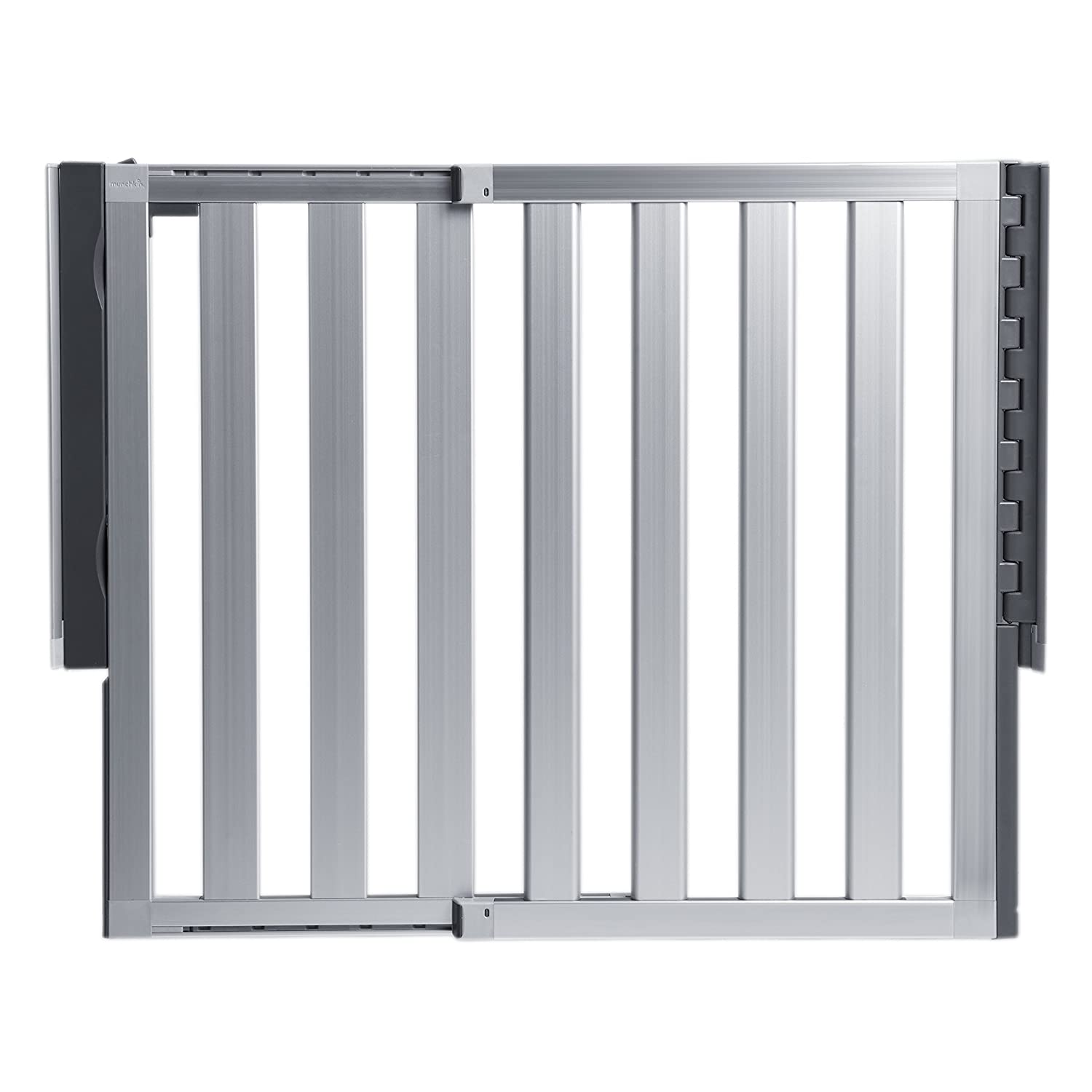 8. Munchkin Loft Aluminum Hardware Mount: Best Baby Gate for Stairs, Hallways, and Doors