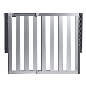 Munchkin Loft Aluminum Hardware Mount Baby Gate For Stairs, Hallways And  Doors, Extends 26.5u0026quot