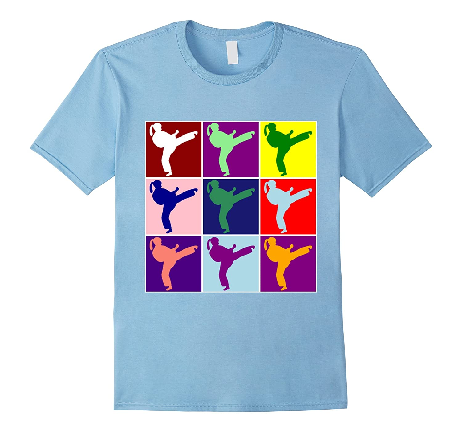 Cute Colorful Girl Karate Judo Martial Arts Pop Art T-shirt-TD