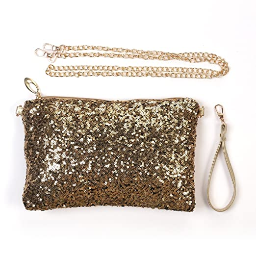 6bffab9e2b Amazon.com: OULII Fashion Glitter Bag Handbag Party Evening Clutch ...