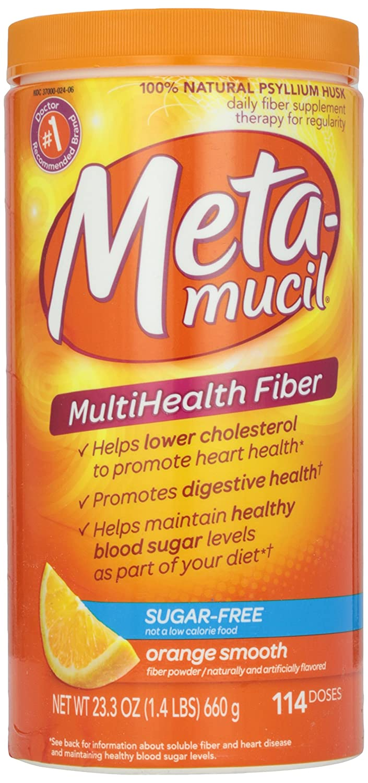 Metamucil, Smooth Texture, Sugar Free, Orange, 23.4 oz