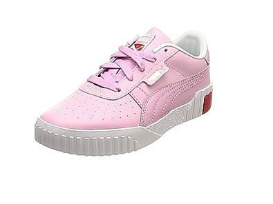 reputable site 5d90b eedef PUMA Cali Kids Mädchen Sneaker Puma White-Hibiscus 1