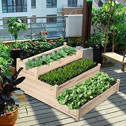 Ordinaire Yaheetech Wooden Raised Vegetable Garden Bed Elevated Planter Kit (49 X 49  X 21.9u0027
