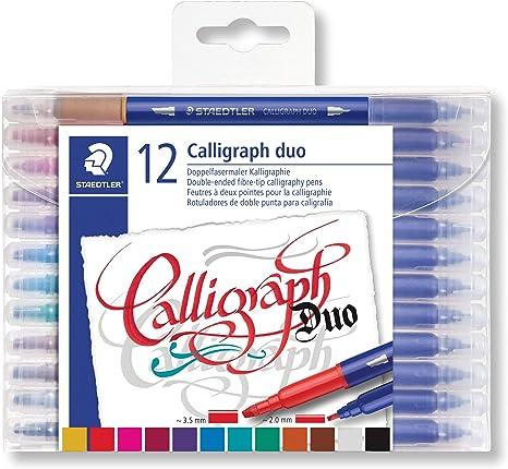 Image ofSTAEDTLER Design Journey 3005 TB12, Rotuladores para lettering de doble punta, Caja con 12 marcadores de colores variados