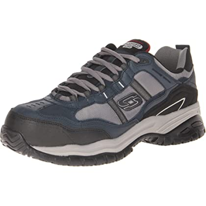 Skechers Men's Work Relaxed Fit Soft Stride Grinnel Comp, Black/Gray - 10.5 D(M) US