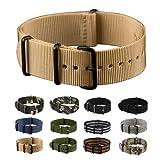 INFANTRY® Nylon Uhrenarmband 20mm 22mm Uhrenband Uhrband Band Army Militär Dornschließe #WS-NATO …