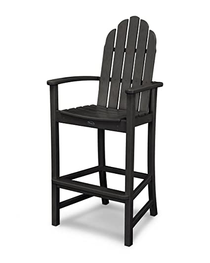 Merveilleux Trex Outdoor Furniture Cape Cod Adirondack Bar Chair In Charcoal Black
