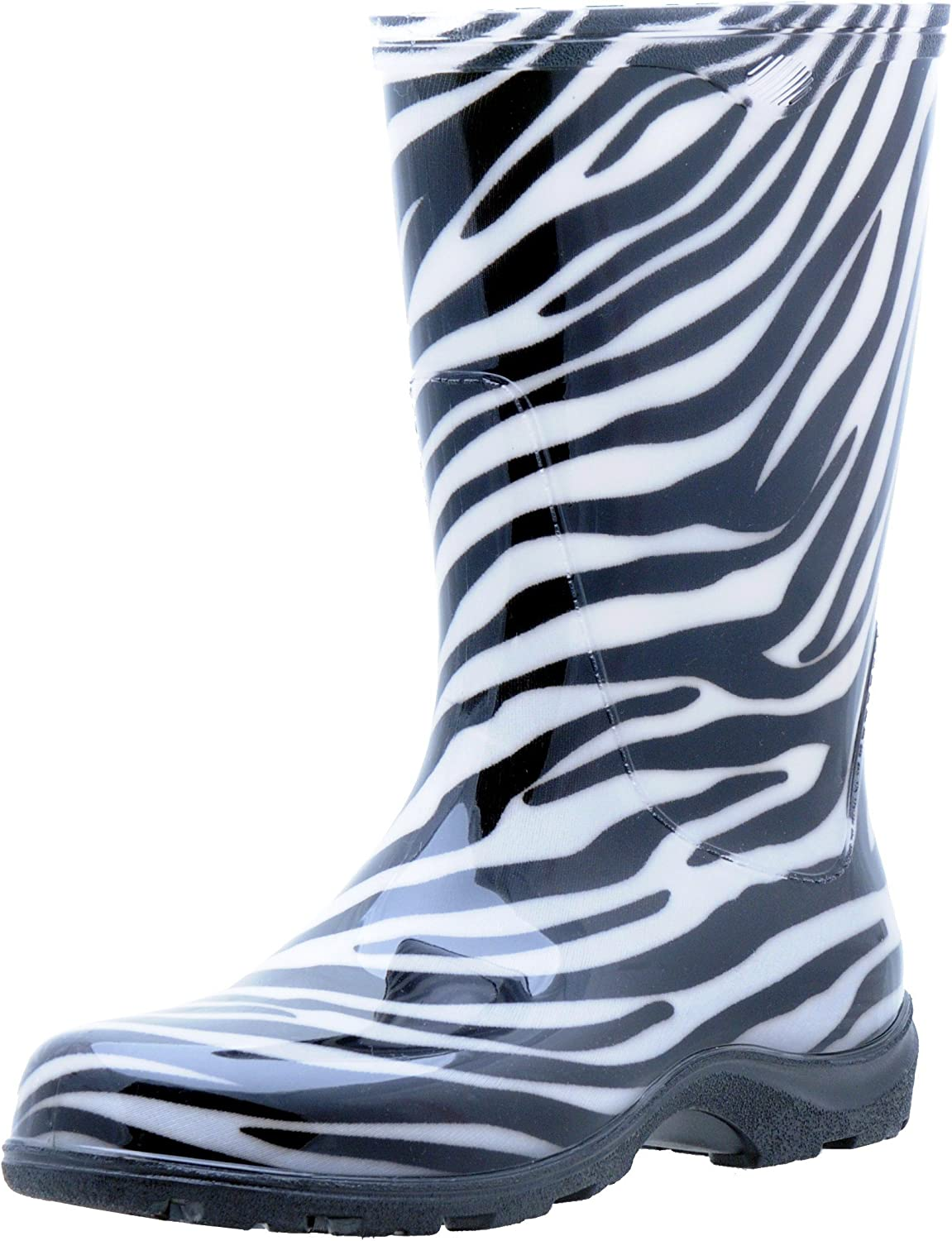 Sloggers Women's Rain and Garden Boot with All-Day-Comfort Insole, Zebra Print - Wo's Size 6 - Style 5006ZE06