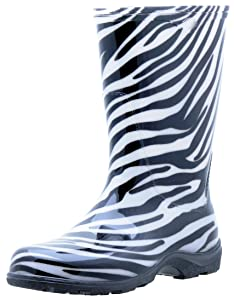 Sloggers Women's Rain and Garden Boot with All-Day-Comfort Insole, Zebra Print - Wo's size 7 - Style 5006ZE07