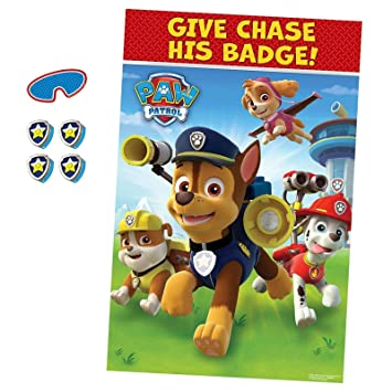 graphic relating to Free Printable Paw Patrol Badges named Paw Patrol Pin the Badge upon Chase Birthday Get together Video game with