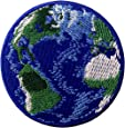 Parche termoadhesivo para la ropa, diseño de Tierra azul mundo