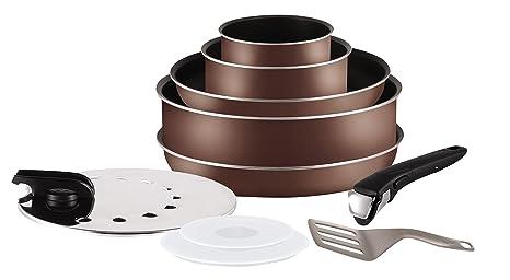 Tefal L2089702 Ingenio 5 Essential - Juego de sartenes y cacerolas para Todas Las Fuentes de