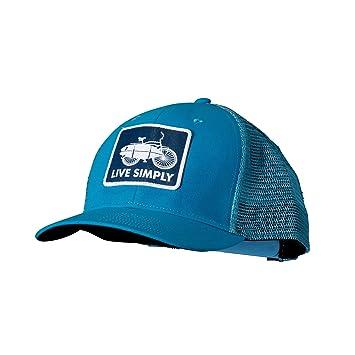 e9d8366ac85a4 Patagonia Trucker Hat Unisex Adults Baseball Cap Blue Live Simply Surf Bike   Gr