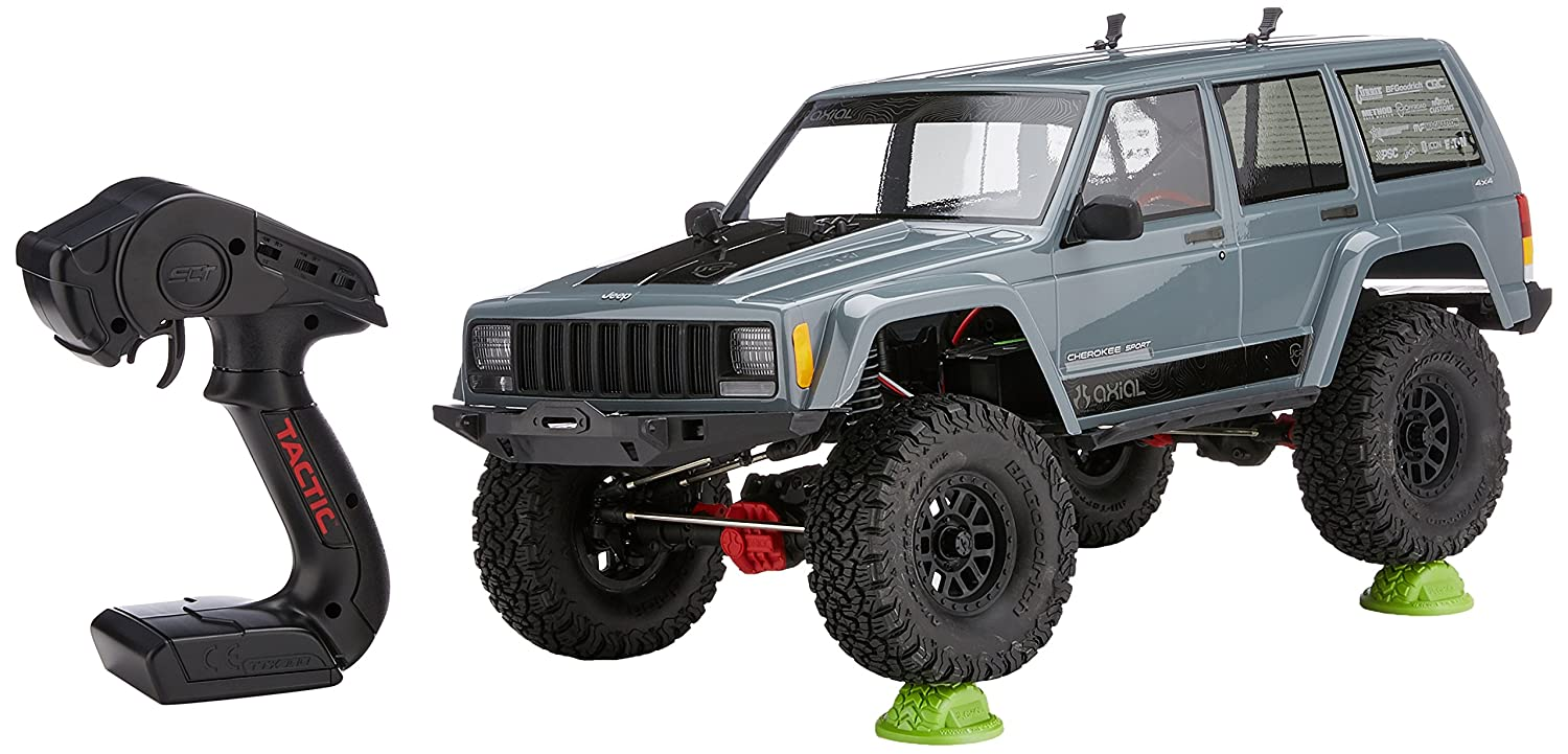 Axial Scx10 Ii Jeep Cherokee 4wd Rc Rock Crawler Off 1995 Rear Speaker Wiring Road 4x4 Electric Ready To Run With 24ghz Radio And Waterproof Esc 1 10 Scale Rtr Toys