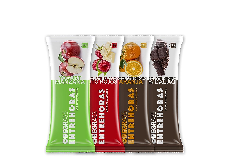 Obegrass Barrita Saciante Entrehoras, Chocolate Blanco y Frutos Rojos - 1 Unidad: Amazon.es: Salud y cuidado personal