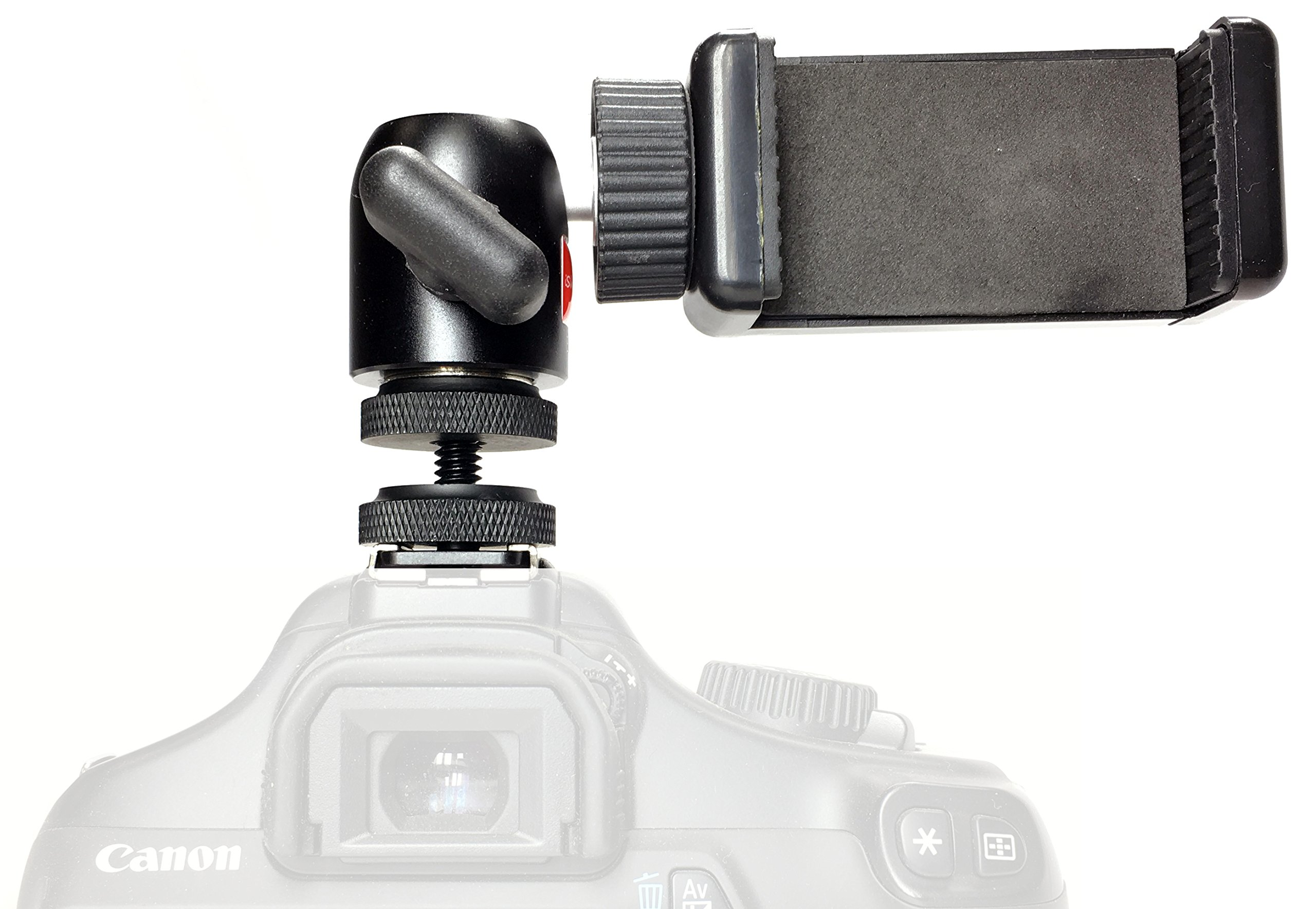 iShot Pro Remora S1 iPhone Universal Smartphone Tripod Monopod SLR Camera Flash Hot Shoe Mount + 360° Swivel Ball Head - Compatible with iPhone Samsung Galaxy Nexus LG HTC and Others from 2.2-3.2'' by iShot Pro (Image #2)
