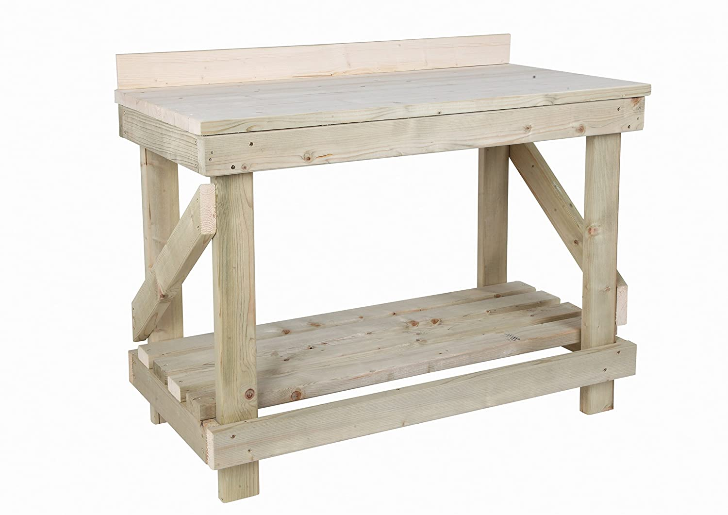 Solid Wooden Worktop MC TIMBER PRODUCTS LTD 3ft Heavy Duty Work bench With Rear Upstand NEW!!