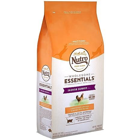 Nutro Indoor Senior Pollo & whole Brown Rice Recipe Natural Cat ...