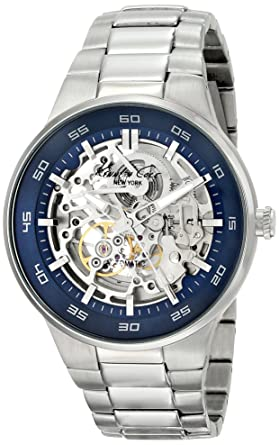 ca8d1834dbc Image Unavailable. Image not available for. Color  Kenneth Cole New York  Men s KC9341 Automatic Analog Display Japanese Automatic Silver Watch