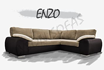 hot sale online 433ef 53c85 Enzo - Corner Sofa Bed with Storage - Unique (Brown & Coffee ...