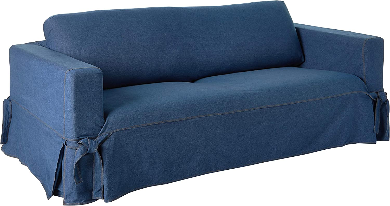 Surefit Sf43634 Sofa Slipcover Box Cushion Black Amazon Ca Home Kitchen
